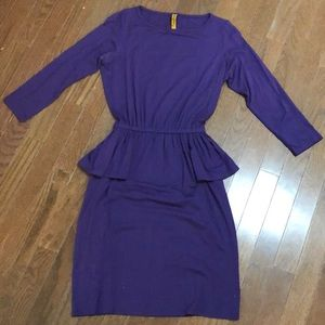 Rachel Pally Purple Peplum Dress